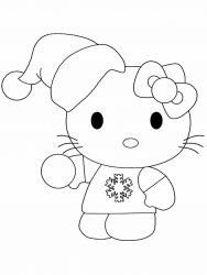 plansa de colorat hello kitty de colorat p02