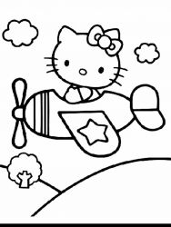 plansa de colorat hello kitty de colorat p03