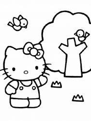plansa de colorat hello kitty de colorat p06
