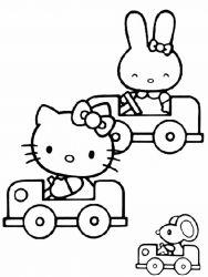 plansa de colorat hello kitty de colorat p07