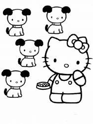 plansa de colorat hello kitty de colorat p08