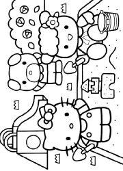 plansa de colorat hello kitty de colorat p12