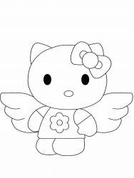 plansa de colorat hello kitty de colorat p13
