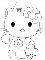 plansa de colorat hello kitty de colorat p15