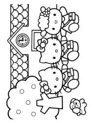 plansa de colorat hello kitty de colorat p31