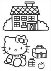 plansa de colorat hello kitty de colorat p32