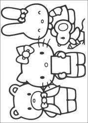 plansa de colorat hello kitty de colorat p37