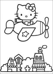 plansa de colorat hello kitty de colorat p38