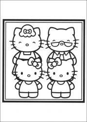 plansa de colorat hello kitty de colorat p40