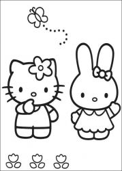 plansa de colorat hello kitty de colorat p42