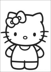 plansa de colorat hello kitty de colorat p43