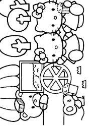 plansa de colorat hello kitty de colorat p48