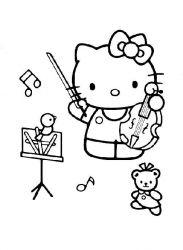 plansa de colorat hello kitty de colorat p50