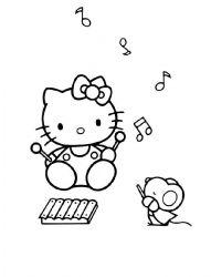 plansa de colorat hello kitty de colorat p52