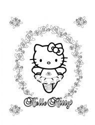 plansa de colorat hello kitty de colorat p58