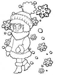plansa de colorat iarna de colorat p11