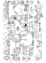 plansa de colorat iarna de colorat p110