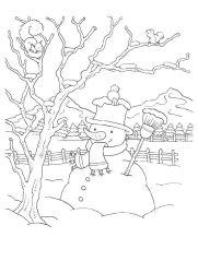 plansa de colorat iarna de colorat p113