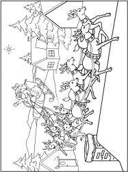 plansa de colorat iarna de colorat p19