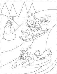 plansa de colorat iarna de colorat p24