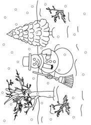 plansa de colorat iarna de colorat p50