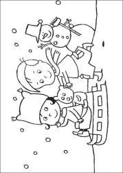 plansa de colorat iarna de colorat p58