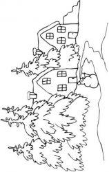 plansa de colorat iarna de colorat p64