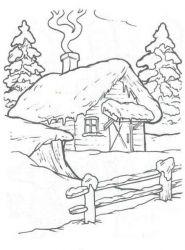 plansa de colorat iarna de colorat p69