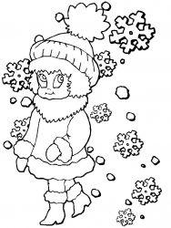 plansa de colorat iarna de colorat p71