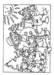 plansa de colorat iarna de colorat p85