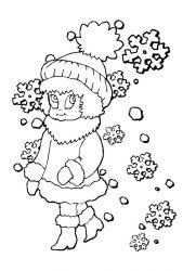 plansa de colorat iarna de colorat p86