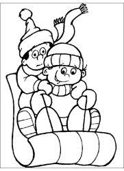 plansa de colorat iarna de colorat p90