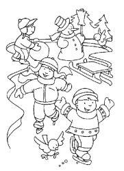plansa de colorat iarna de colorat p94