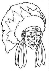 plansa de colorat indieni de colorat p02