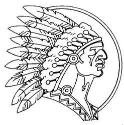 plansa de colorat indieni de colorat p11