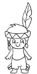 plansa de colorat indieni de colorat p12