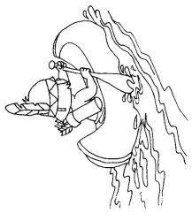 plansa de colorat indieni de colorat p14