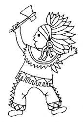 plansa de colorat indieni de colorat p17