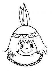 plansa de colorat indieni de colorat p19