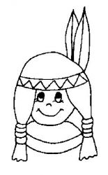 plansa de colorat indieni de colorat p20