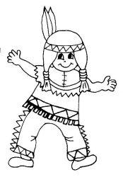 plansa de colorat indieni de colorat p22