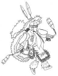 plansa de colorat indieni de colorat p26