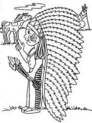 plansa de colorat indieni de colorat p28