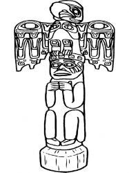 plansa de colorat indieni de colorat p37