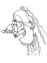 plansa de colorat indieni de colorat p38