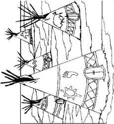 plansa de colorat indieni de colorat p43