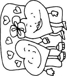 plansa de colorat inimioare de colorat p08