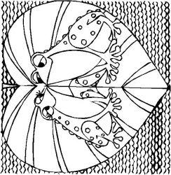 plansa de colorat inimioare de colorat p15