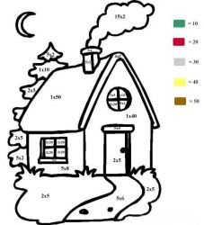 plansa de colorat inmultim si coloram de colorat p04