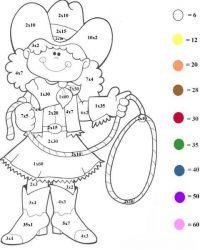 plansa de colorat inmultim si coloram de colorat p05